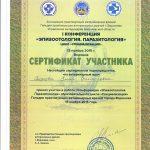 Сертификаты - Смагина (Перерва) Елена Викторовна
